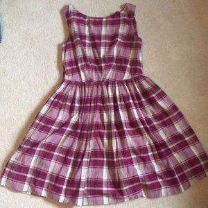 Pink plaid vintage-style dress